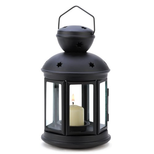 Gifts & Decor Black Colonial Style Candle Holder Hanging Lan