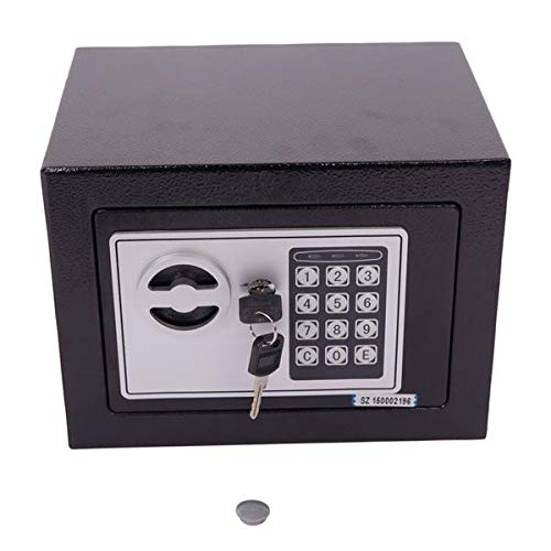 Quklei Electronic Digital Safe Box Keypad Steel Plate Security Safe Box with Keys for Jewelry Cash Storage Cabinet (US - Stock Digital