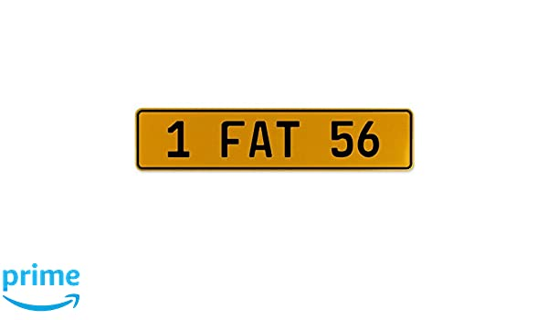 1 Fat 56 Vintage Parts 559702 Yellow Stamped Aluminum European Plate