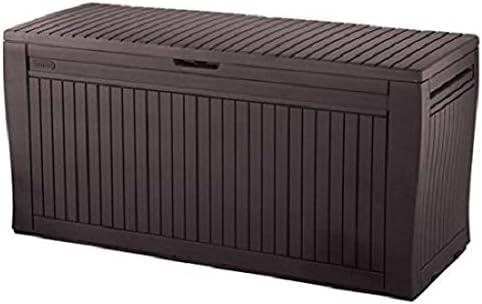 Keter - Arcón exterior Comfy, Capacidad 270 litros, Color marrón: Amazon.es: Jardín