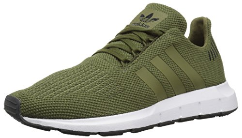 adidas Originals Unisex Swift Running Shoe Olive Cargo/Carbon, 3 M US Little -