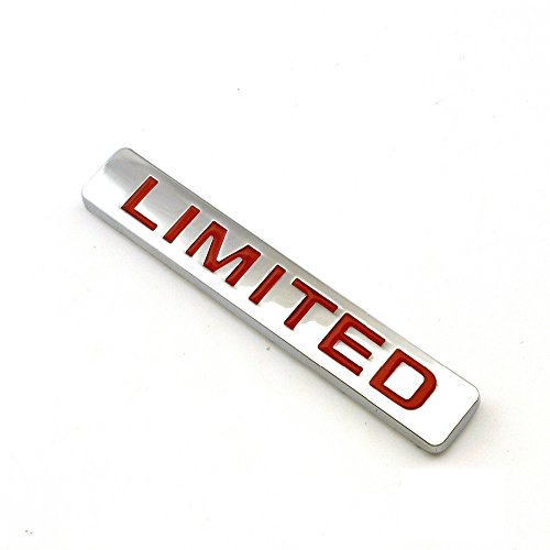 Red LIMITED CAR Metal Emblem Badge Sticker Auto Body Side Wing SUV