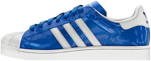 aprobar Brújula Derecho  adidas Superstar II Men Patent Leather Sneakers Blue/White D65603 (Size:  11.5): Amazon.co.uk: Shoes & Bags