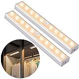 OUSFOT Closet Lights, Motion Sensor Indoor LED Under Cabinet Light USB Rechargeable