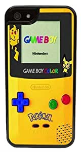 CellPowerCasesTM Pokemon Gameboy (Flat Back Not 3D) iPhone 5 Case - Fits iPhone 5 & iPhone 5S (Black Case V2)