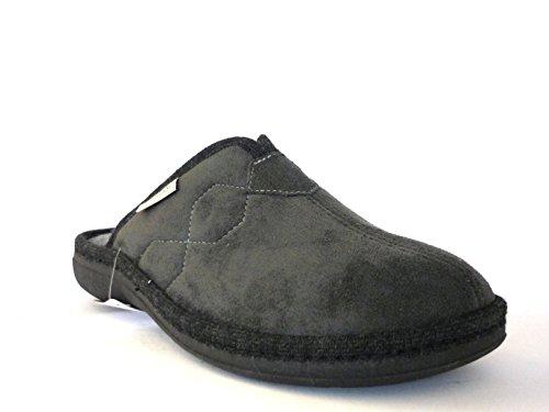 GRUNLAND Hombre pantuflas y zapatillas de casa gris