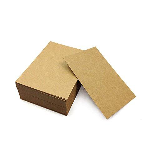 Carte Vide Blanche Kraft 100pcs Marque Page Etiquettes Cartes Postales De Visite