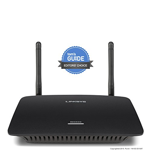 Linksys AC1200 MAX Wi-Fi Range Extender (RE6500-FFP) by Linksys (Image #1)