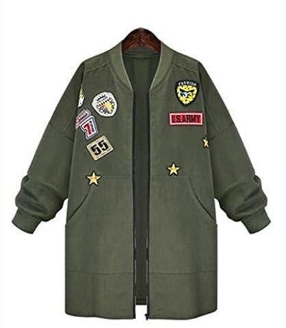Jacket Coat Spring Autumn Jacket Women Tops Long Sleeve Slim Army Green Outwear Women Basic Punk Coat Jacket Color:Armygreen - Gap Girls Jacket