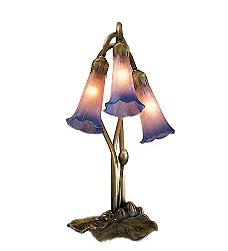 Meyda Tiffany 14670 Pond Lily 3 Light Accent Lamp, 16