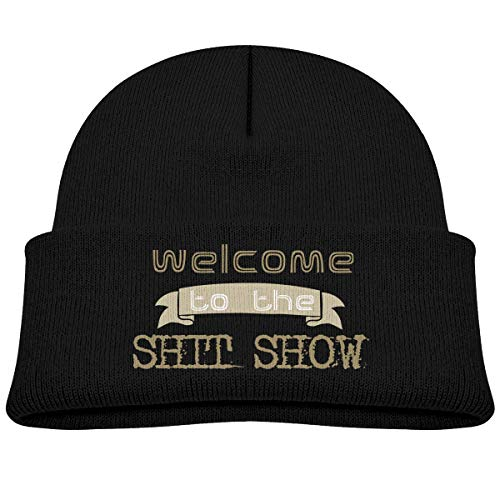 Kocvbng I Welcome to The Shitshow Beanie Caps Skull Hat Toddler Black