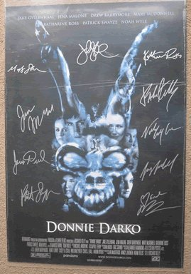 Donnie Darko Movie Poster Signed by Cast In Person Autographed Poster