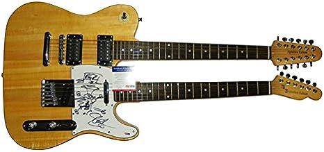 Guns N Roses Slash W raras Sketch 2 x cuello firmado guitarra + ...