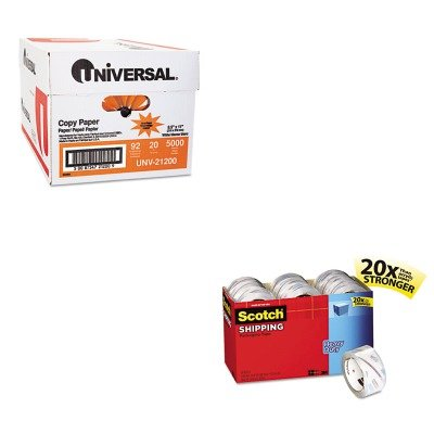 KITMMM385018CPUNV21200 - Value Kit - Scotch 3850 Heavy-Duty Packaging Tape Cabinet Pack (MMM385018CP) and Universal Copy Paper (UNV21200)