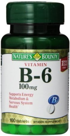 Nature`s Bounty B-6 100Mg Tablets 100 Ct (6 Pack) by Nature's Bounty