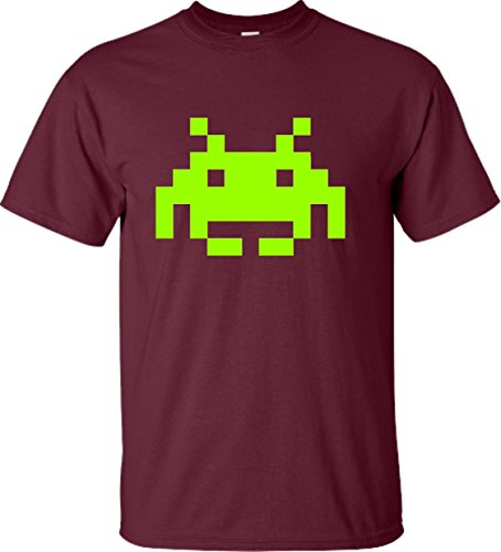 Adult Space Invaders Retro Gaming T-Shirt