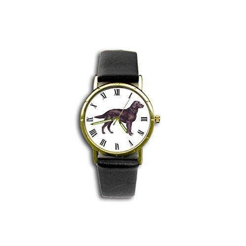 Flat Retriever Watch (Flat-Coated Retriever Watch (Dog Breed Wristwatch))