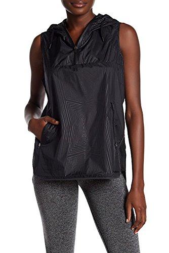 Ivy Park Reflective Print Hooded Sleeveless Jacket, Large - Black