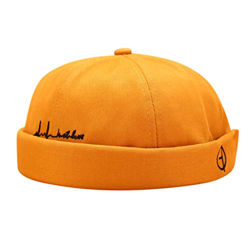 HYIRI England Men Women Hat Cap Casual Docker Sailor Mechanic Brimless Solid Color Hat
