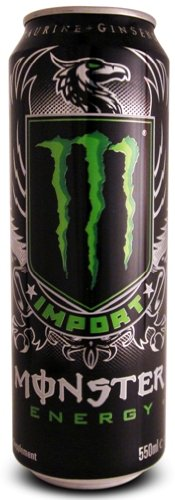 Monster Energy Drink, Import, 18.6-Ounce Cans (Pack of 8) (Import Energy Monster Drink)