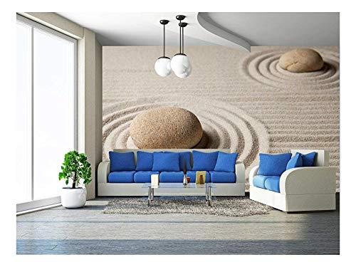 wall26 - Mini Zen Garden - Removable Wall Mural   Self-Adhesive Large Wallpaper - 66x96 - Wallpaper Mural Mini Mural