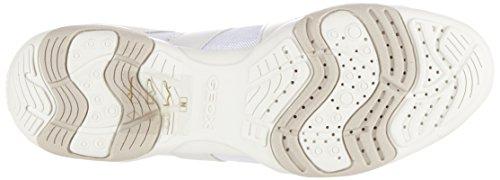 D Bianco Whitec1000 Arrow Geox Scarpe Basse da C Ginnastica Donna SPxqxpad