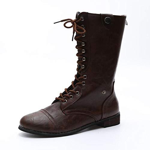 Tube Front Mit Stiefel Stiefel Bowomen Warmen Damenstiefel Mode und Winter Martin Herbst Boots Es KUKI Großformat High OTS yAwpOfqOT