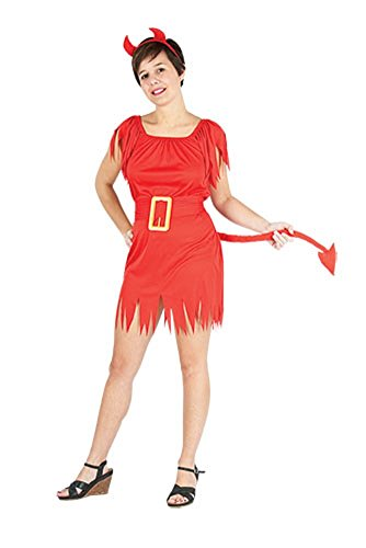Ladies Halloween Adult Devil Siren Costume Onesize (US 4-10) (Onesize (US 4-10), Red)