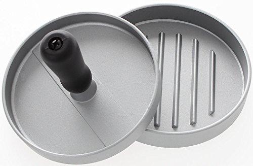Hamburgerpresse für perfekte Patties | Profi Burgerpresse aus 100% Aluguss | Ø 12cm | W&Z