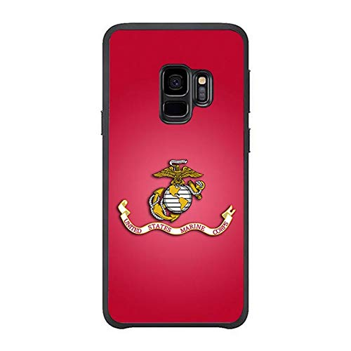 FIDIKO U.S. MC U.S. Marines Corps Hard Case Compatible Samsung s9, coulorful Hard Plastic Slim   Dust-Proof Case Cover Compatible Samsung Galaxy ()