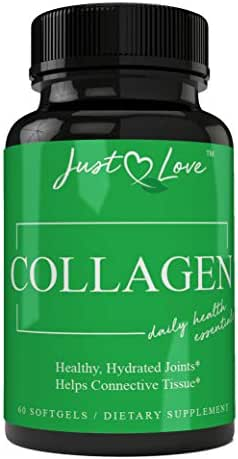 Extra Strength Collagen Pills Type 1, 2 & 3 - Supports: Joint Pain, Skin Aging, Promotes Weight Loss & Helps Digestive Health