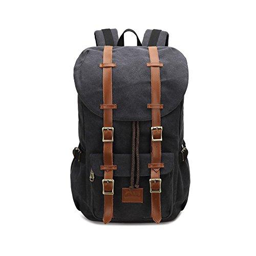 VRIKOO Unisex Travel Duffel Backpack Casual Daypacks Rucksack Fashion School Shoulder Bags Negro