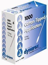 4302 PT# 4302- Cotton Tip Applicator N/S 6'' 10000/Ca by, Dynarex Corporation