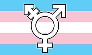 Transgénero símbolo bandera, 3'x5' Rainbow Póster pancarta, Gay lesbiana