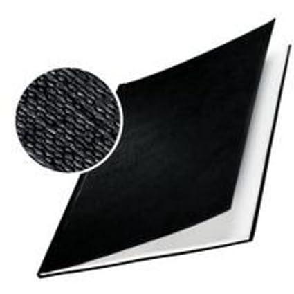 Leitz, 73900001, Copertine rigide, ImpressBind, Dorso da 3.5 mm, Confezione da 10 pezzi, Superficie in lino, Bianco Esselte