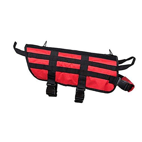 NcSTAR CVK93005RL Red Tactical K9 Vest w/PALS Webbing - Size Large