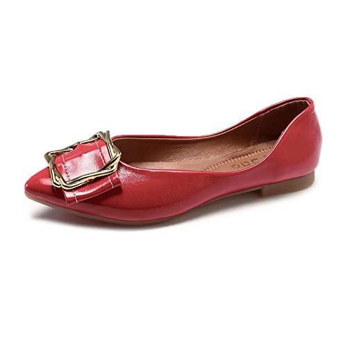 otoño Mujeres FLYRCX Acentuados de Zapatos y Zapatos de Planos cómodos el Boca B Baja Solos La Zapatos Zapatos Trabajo Casuales Embarazadas Moda Primavera Las de Zapatos RRqIA
