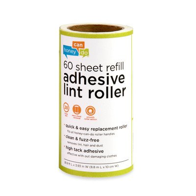 4 Pack 60 Sheet Lint Roller Refill (Set of 4) by Honey-Can-Do