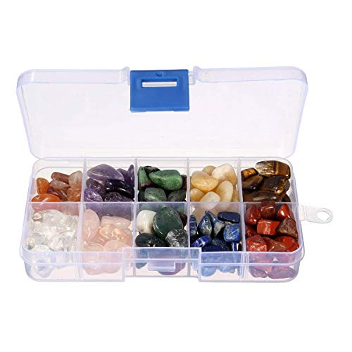 Saundra Peal Crystal Quartz,1/2 lb 10-Stone Mix:Red Crystal.Amethyst,Red&Green Gem,Yellow Agate,Tiger