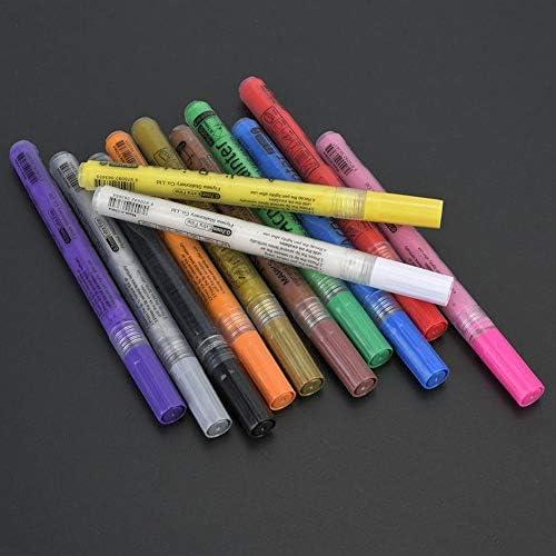 Gancon 人気のアクリルマーカー新無臭針ペン水性塗料ペン0.7ミリメートル線幅
