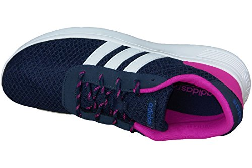 adidas Lite Racer, Baskets Basses Femme, Rose, EU Bleu Marine