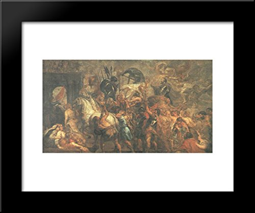 Triumphal Entry of Henry IV into Paris 20x24 Framed Art Print by Peter Paul Rubens