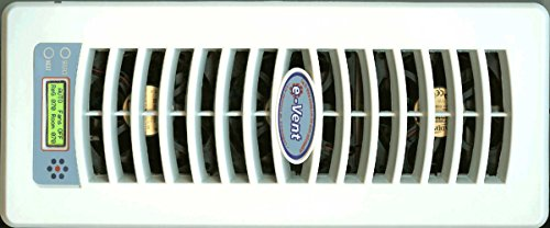 White Automatic Register (e-Vent (Almond White, 4x12 Wall/Ceiling))