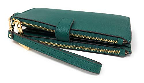 Michael Kors Jet Set Travel Double Zip Saffiano Leather Wristlet Wallet in Emerald by Michael Kors (Image #2)