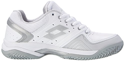 Raptor Women's Tennis Wht W Mt Lotto Cly Slv Silver White White LTH Metal Shoes F5cAfdqBf
