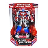 Hasbro Year 2006 Transformers Movie Series Exclusive Limited Edition Supermetal Finish Voyager Class 7 Inch Tall Robot Action Figure - Autobot ROBO-VISION OPTIMUS PRIME with Smokestacks that Convert to Double Cannons, 2 Missiles and Robo-Vision Decoder (Vehicle Mode: Rig Truck)