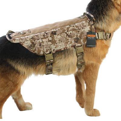 Chaleco táctico para perros, arnés para perros K9, ropa de perro ...