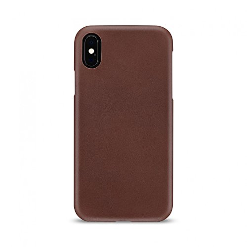 - Artwizz Leather Clip for iPhone Xs & iPhone X - Ultra-Slim, Handmade Leather Case with 1.5mm Thickness - Designed in Berlin - Brown