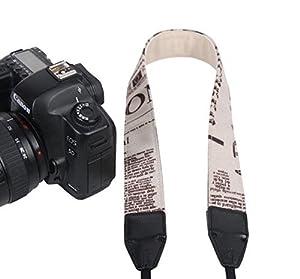TARION Camera Shoulder Neck Soft Vintage Jacquard Weave Strap Belt for SLR DSLR Mirrorless Digital Cameras Nikon Canon Sony Pentax B Style from TARION