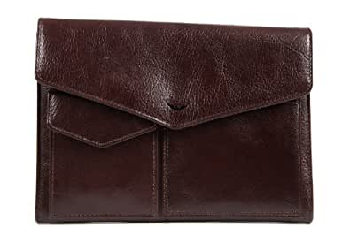 Armani Jeans men's wallet leather coin case holder purse card bifold brown